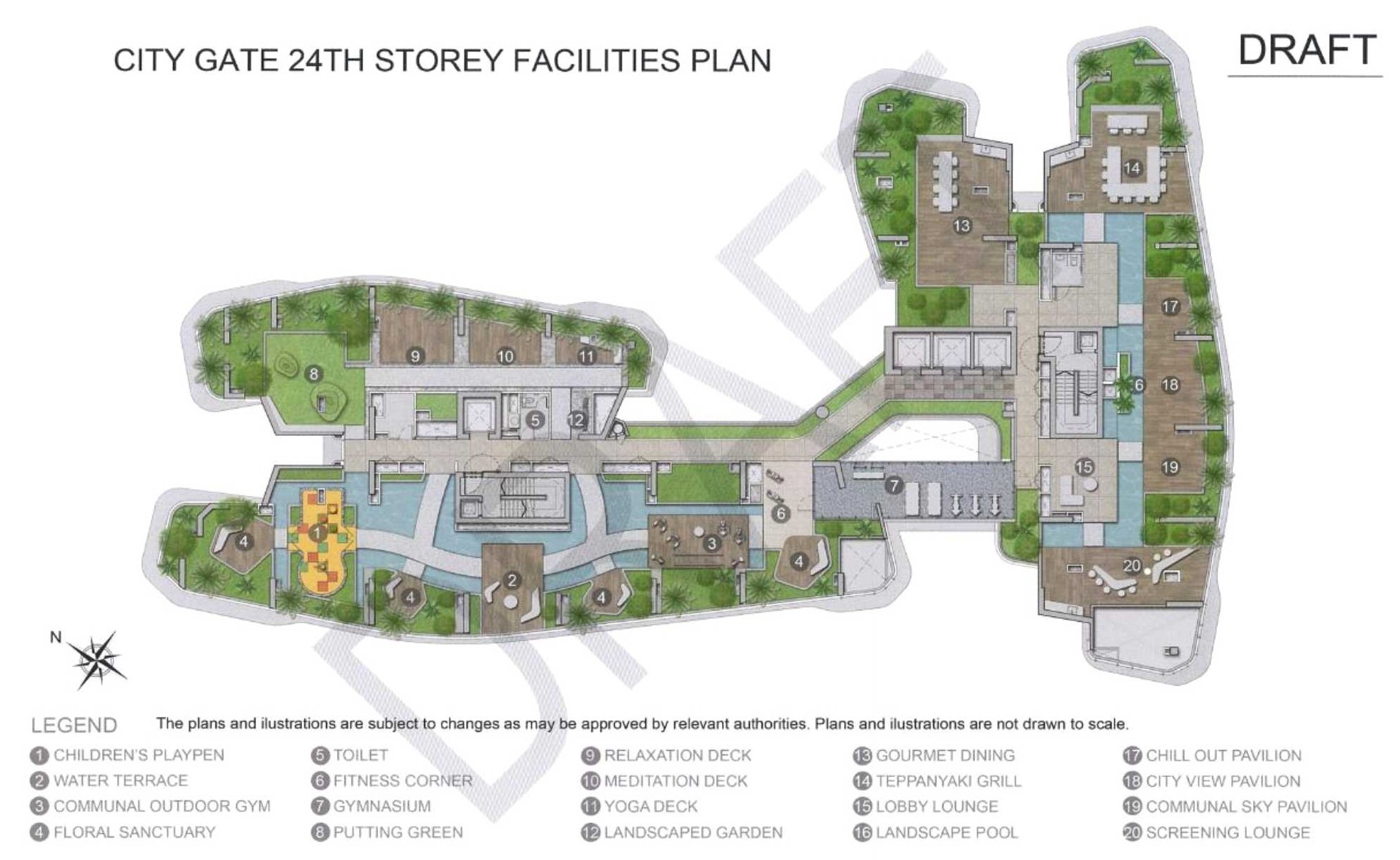 City Gate Facility Plan - 24th Stoery
