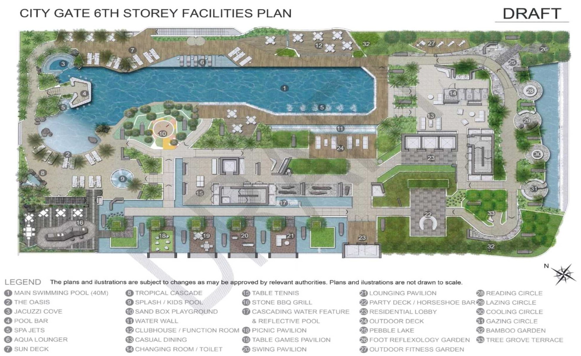 City Gate Facility Plan - 6th Stoery