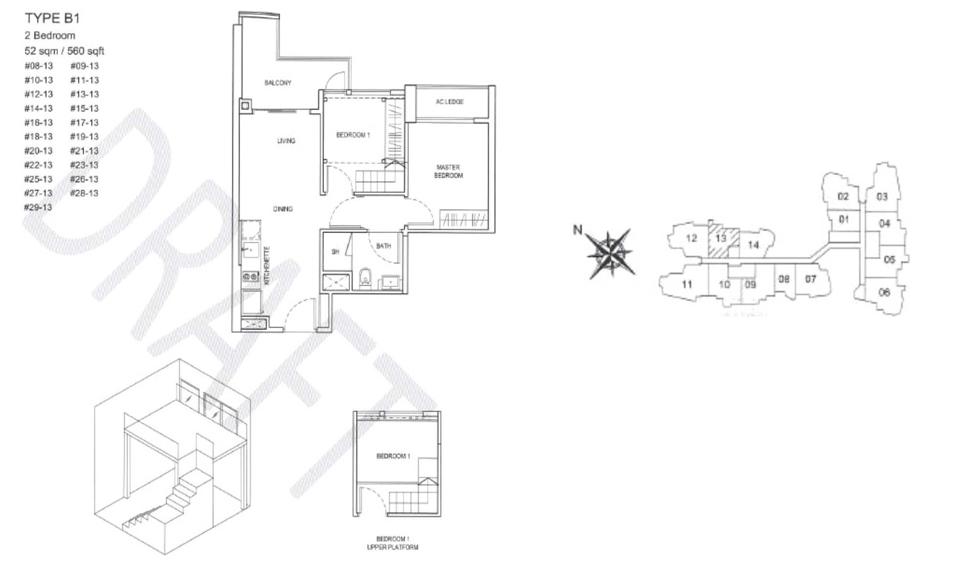City Gate Floor Plan - B1