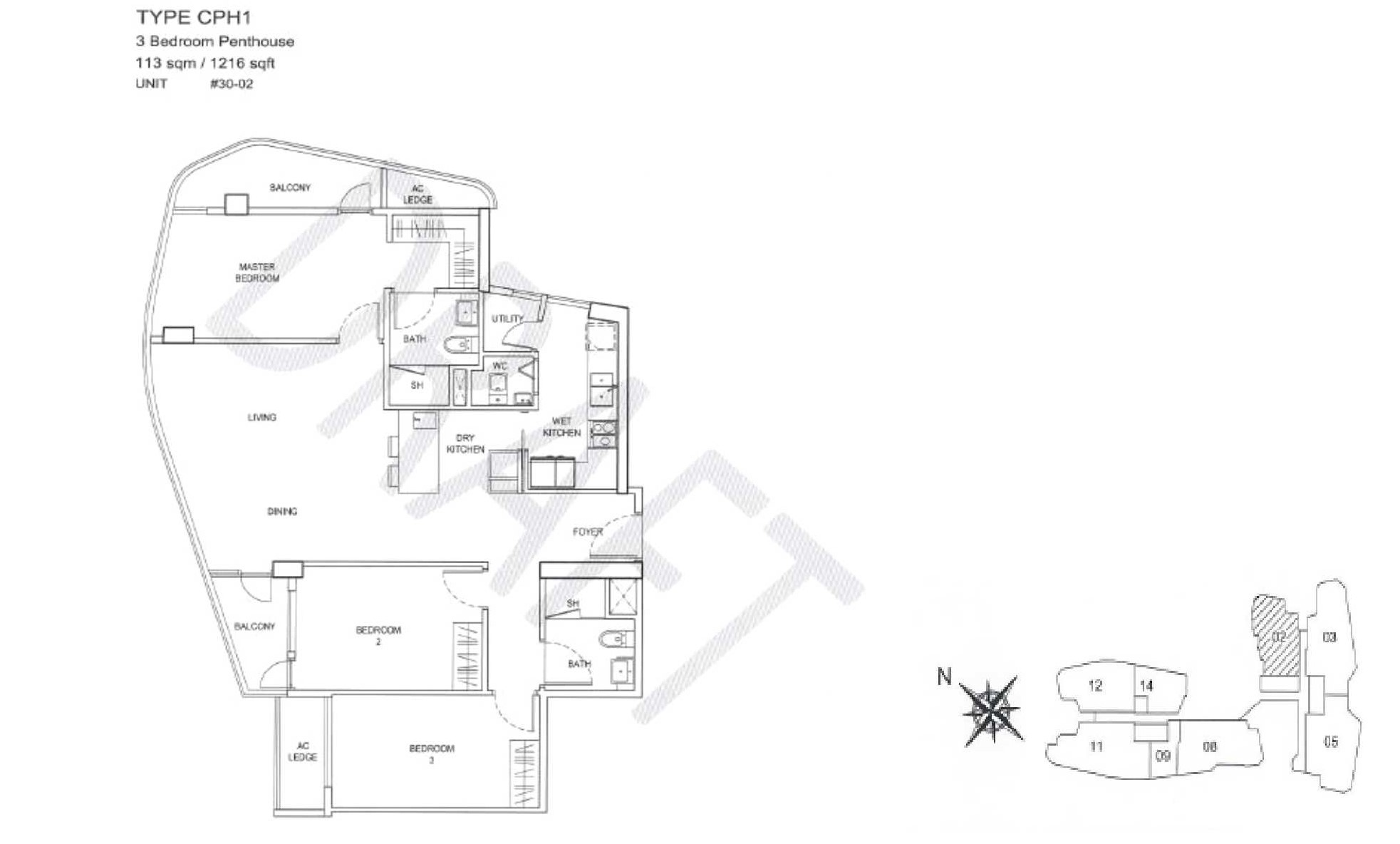 City Gate Floor Plan - CPH1