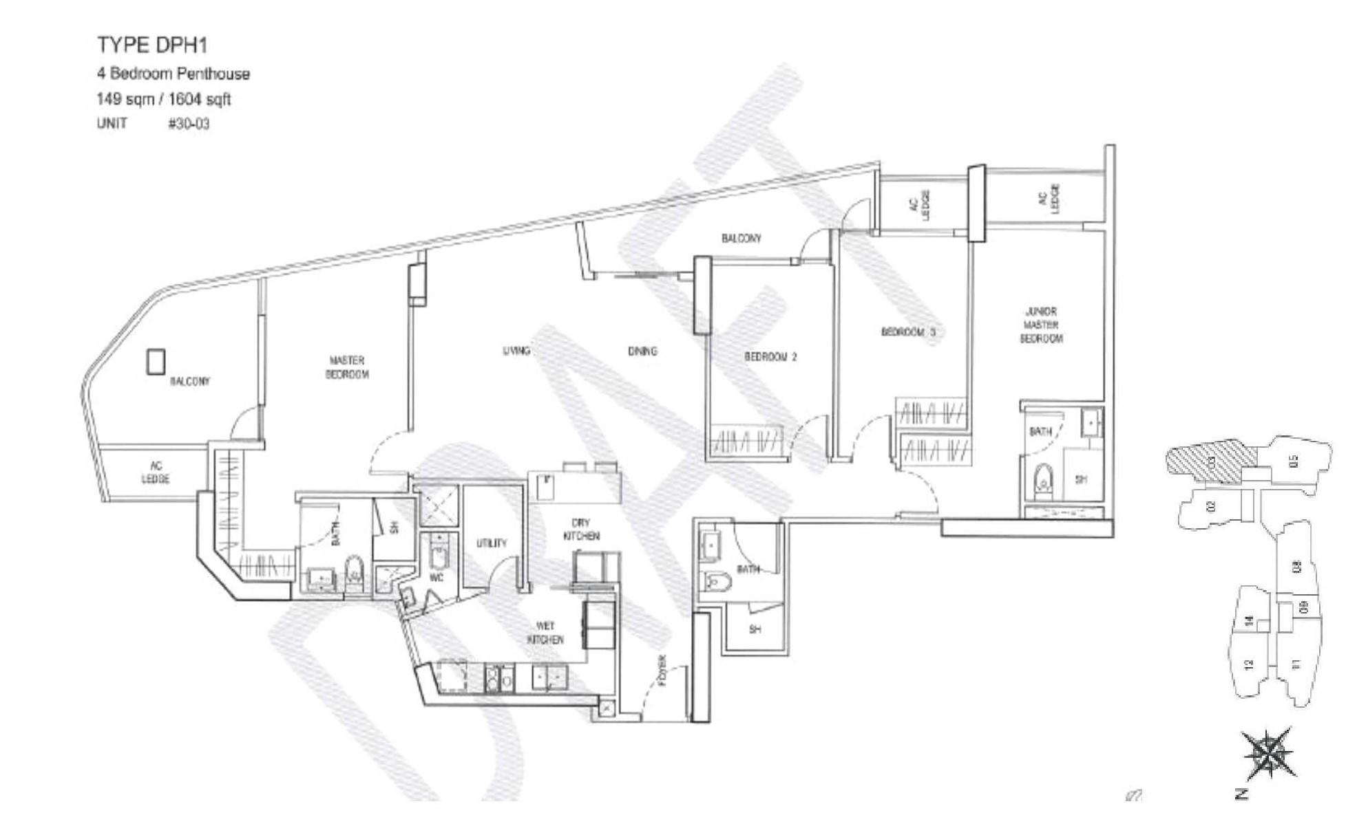City Gate Floor Plan - DPH1