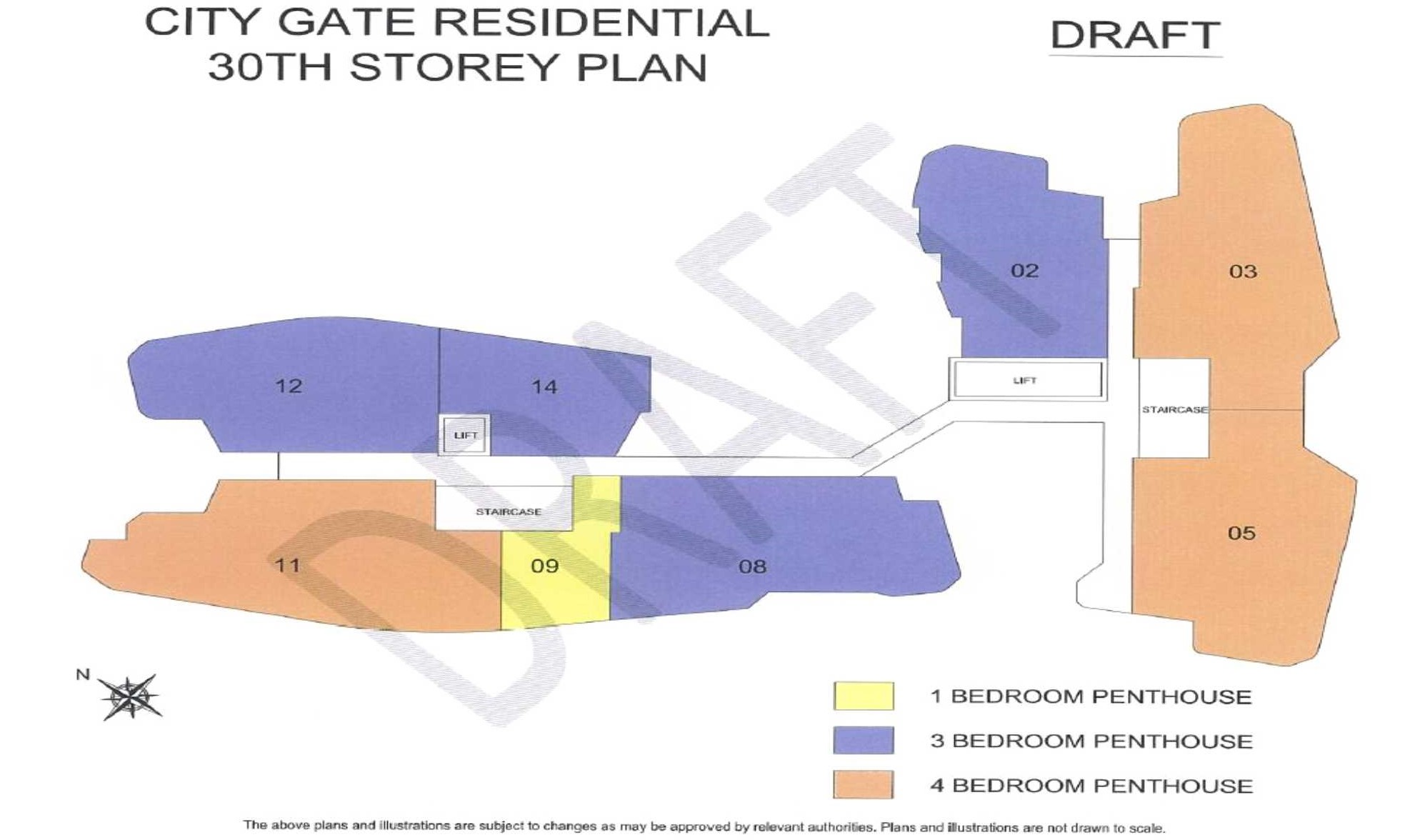City Gate Residential 30th Storey Plan