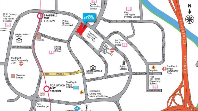 Land Sales Toa Payoh (Location)